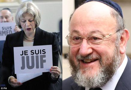 Theresa Je Suis Juif May & Chief Rabbi Ephraim Mirvis