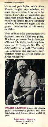 Mind of Adolf Hitler - cover flap 2