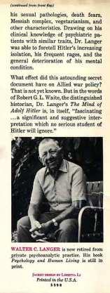 Mind of Adolf Hitler - cover flap 2